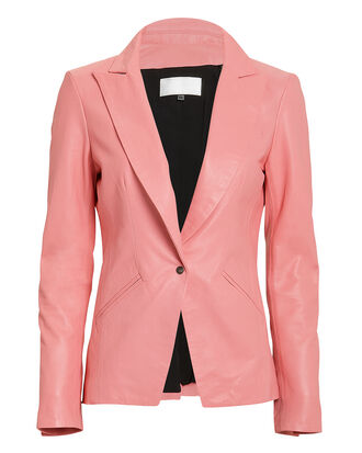The Coventry Pink Leather Blazer, PINK, hi-res