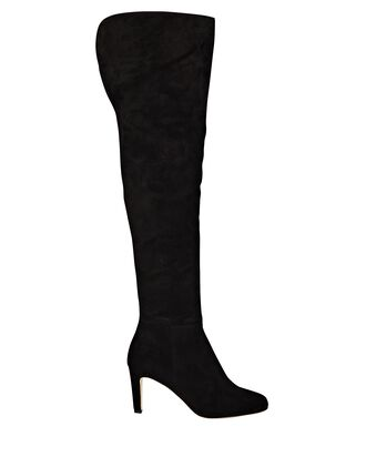 Charlotte Suede Over-The-Knee Boots, BLACK, hi-res