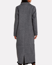 Charcoal Check Wool-Blend Trench Coat, MULTI, hi-res