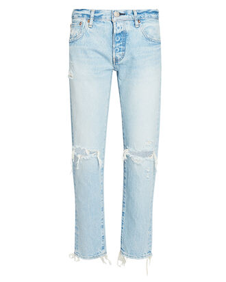 Yardley Cropped Tapered Jeans, LIGHT WASH DENIM, hi-res