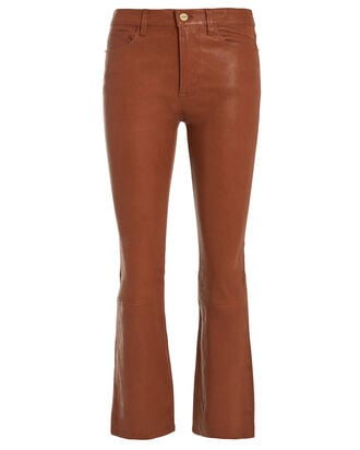 Le Crop Leather Pants, COGNAC, hi-res