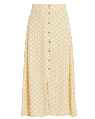 Marin Midi Skirt, YELLOW/WHITE, hi-res