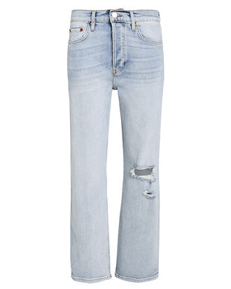 Stove Pipe Stretch Jeans, LIGHT WASH DENIM, hi-res