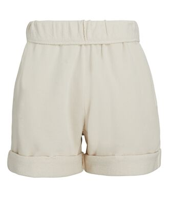 Rolled Up Sweat Shorts, BEIGE, hi-res