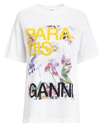 Paradise Graphic T-Shirt, WHITE, hi-res