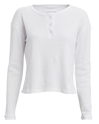 Thermal Henley Top, WHITE, hi-res