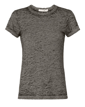 Dark Grey Heather Burnout Tee, BLACK, hi-res