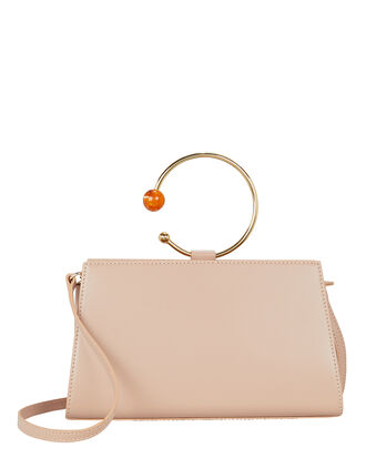Art Frame Mini Hoop Pink Leather Bag, ROSE PINK, hi-res