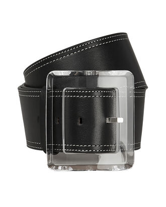 Corin Leather Belt, BLACK, hi-res