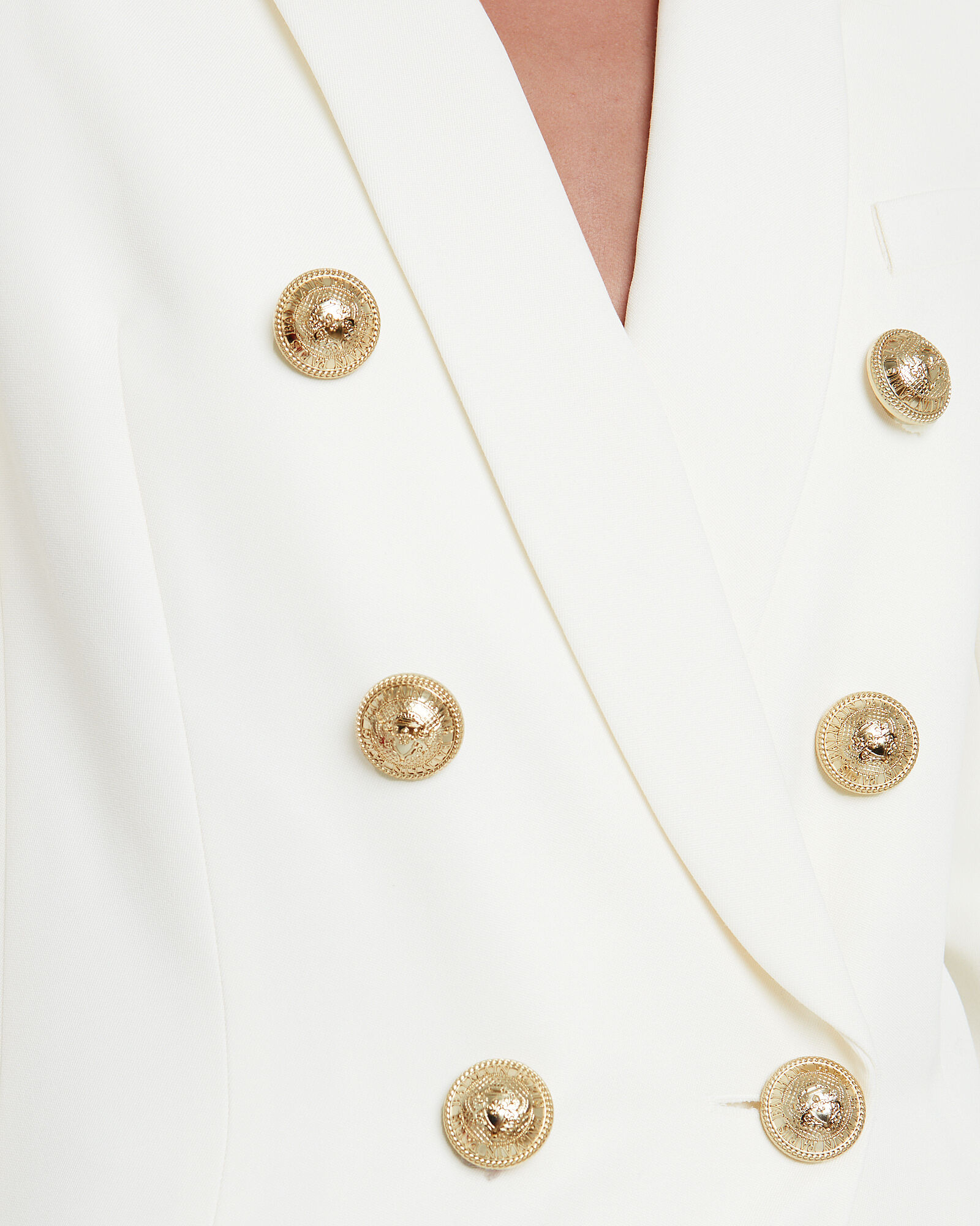 Double Breasted Suiting Blazer, ECRU, hi-res