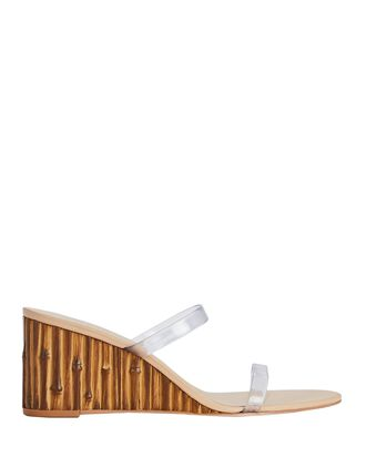 Eva PVC Wedge Slide Sandals, CLEAR, hi-res