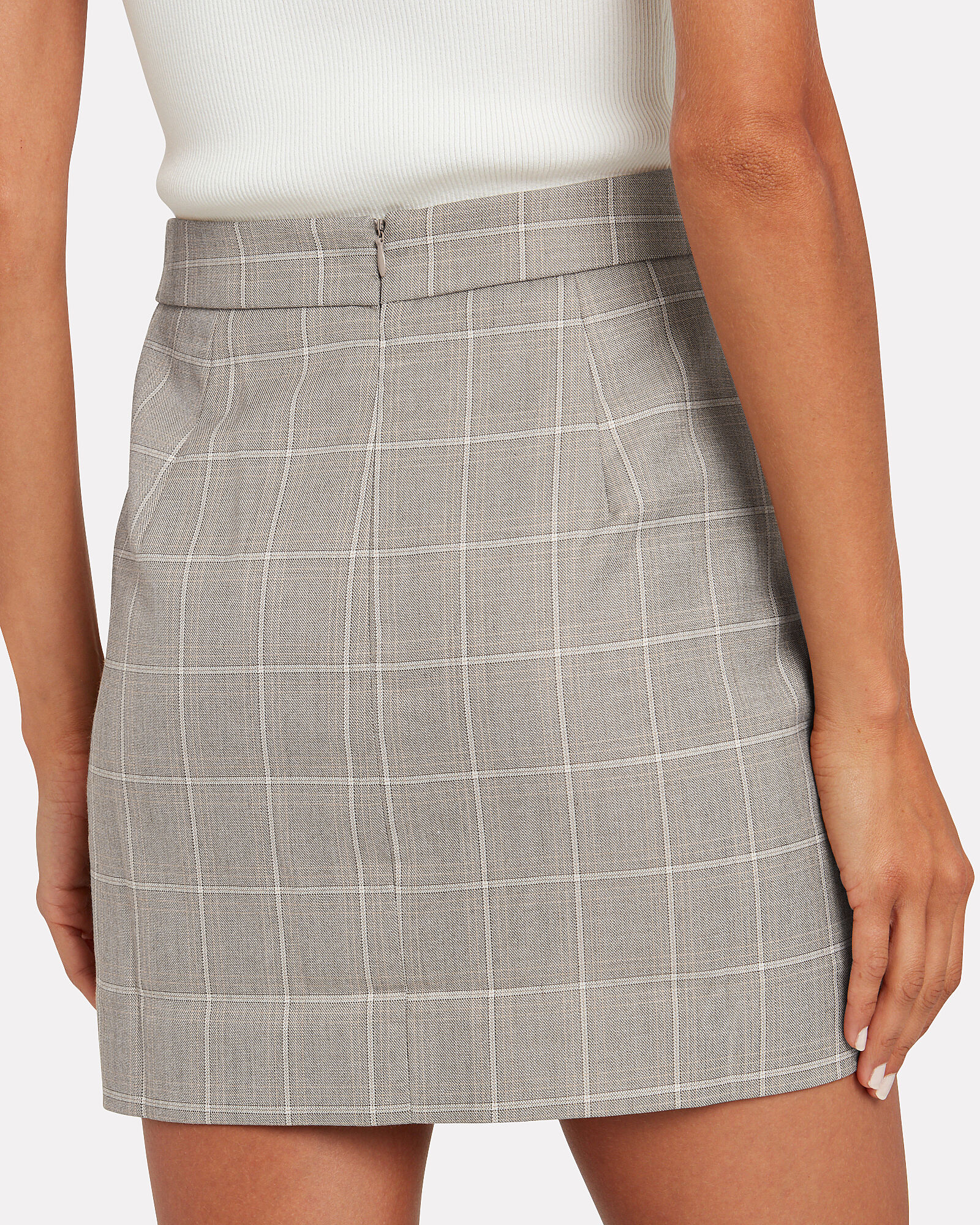 Mother Tongue Checked Mini Skirt, MULTI, hi-res