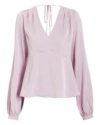 Rosalie Silk Crepe Blouse, PURPLE-LT, hi-res