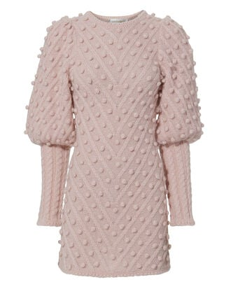 Fleeting Bauble Sweater Dress, BLUSH, hi-res