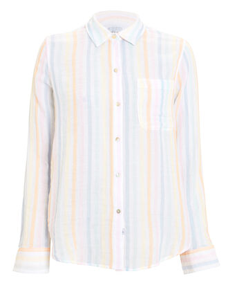 Ellis Striped Cotton Shirt, MULTI, hi-res