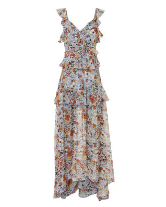 Jewell Floral Maxi Dress, MULTI, hi-res
