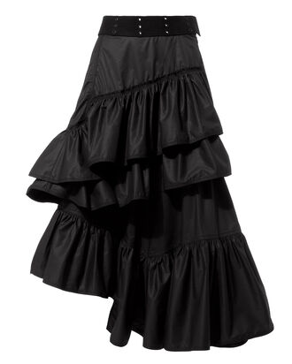 Flamenco Ruffle Skirt, BLACK, hi-res