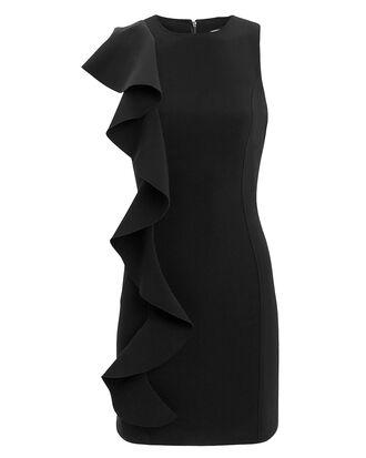 Kimberlin Ruffle Mini Dress, BLACK, hi-res