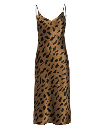 Jodie Leopard Slip Dress, CAMEL/SPOTS, hi-res