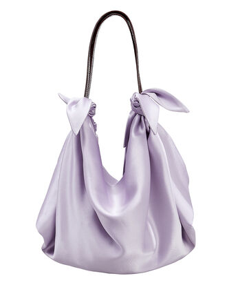 Inda Satin Tote, LIGHT PURPLE, hi-res