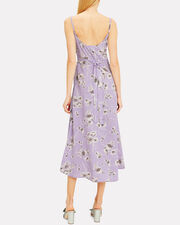 Hazel Midi Dress, LAVENDER/WHITE FLORAL, hi-res