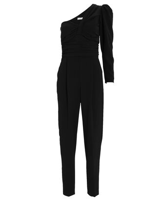 Walden One-Shoulder Jumpsuit, BLACK, hi-res