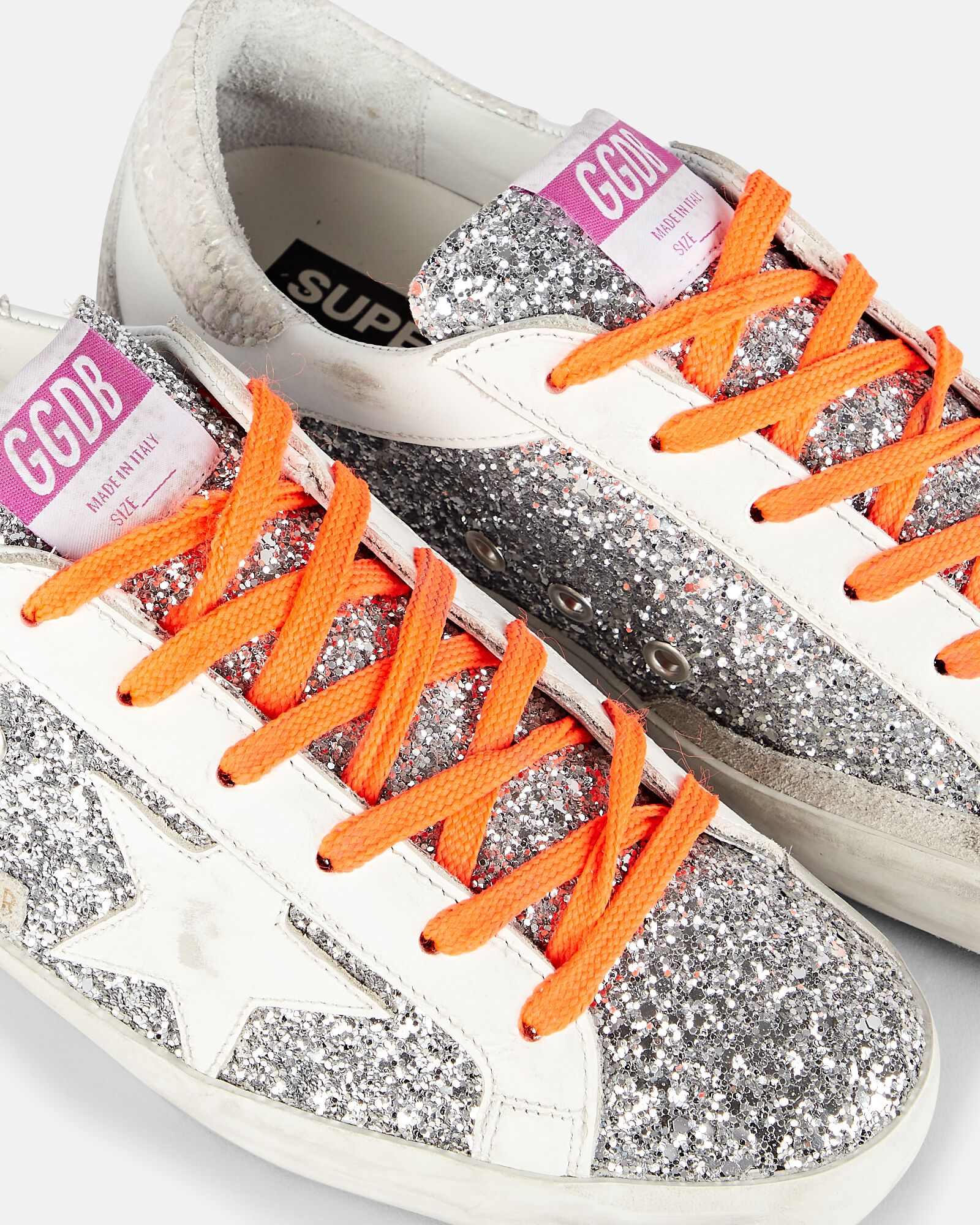 Superstar Glitter Low-Top Sneakers, SILVER, hi-res