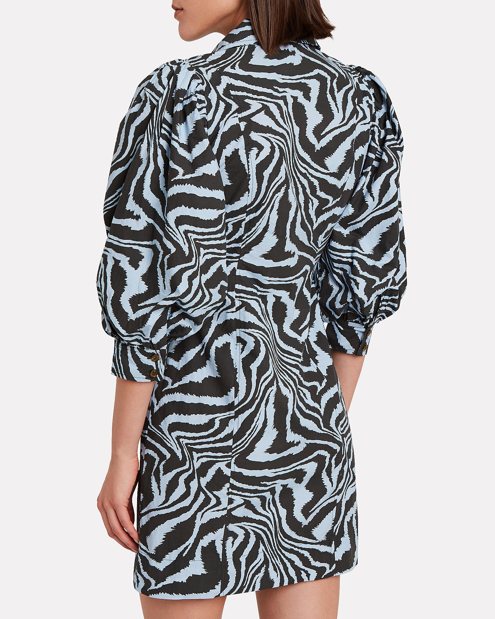 Zebra Poplin Shirt Dress, MULTI, hi-res