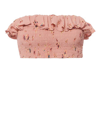 Ines Smocked Crop Top, MULTI, hi-res