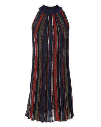Lurex Striped Mini Dress, MULTI, hi-res