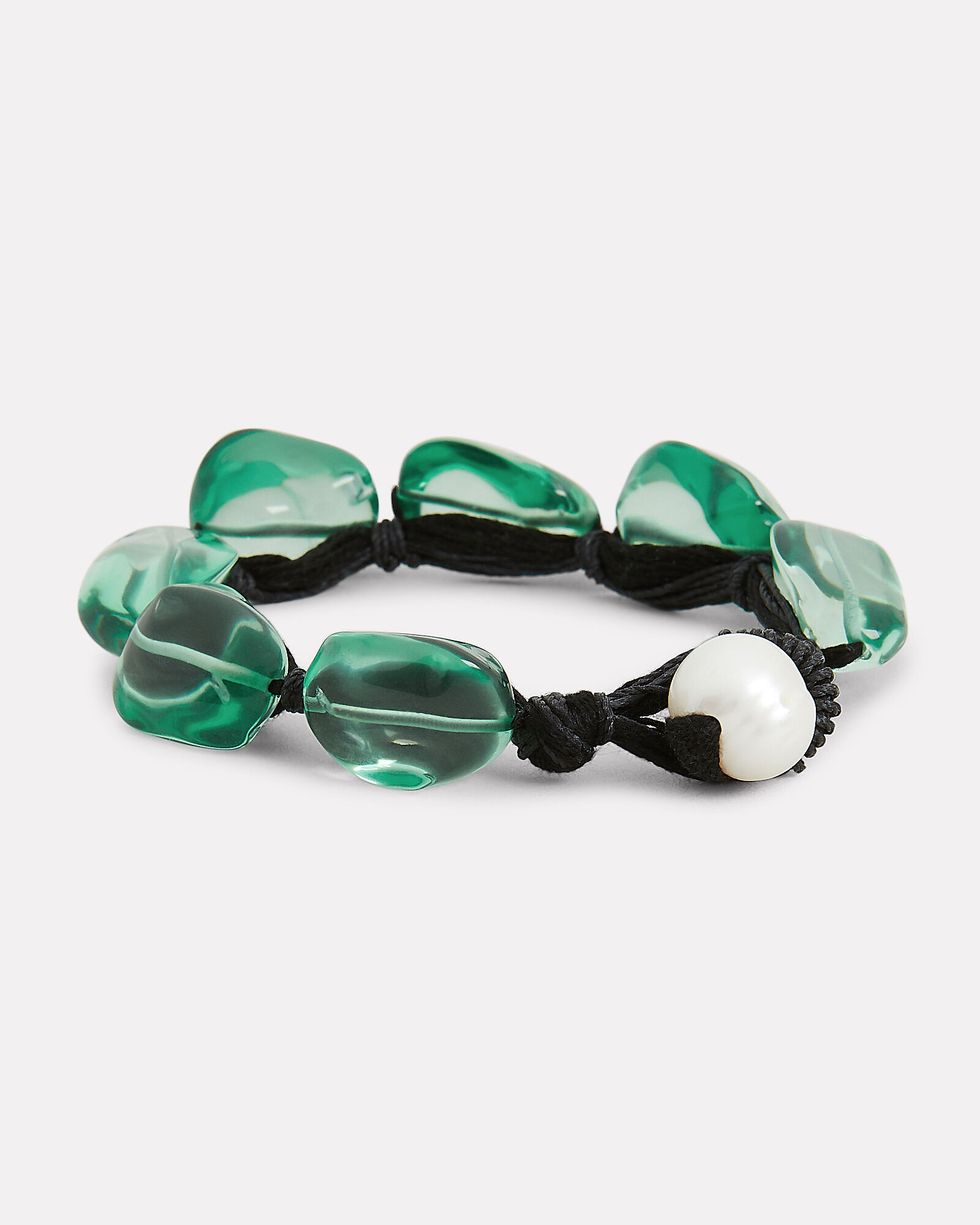 Sea Glass Pebble Bracelet, SEA GLASS, hi-res