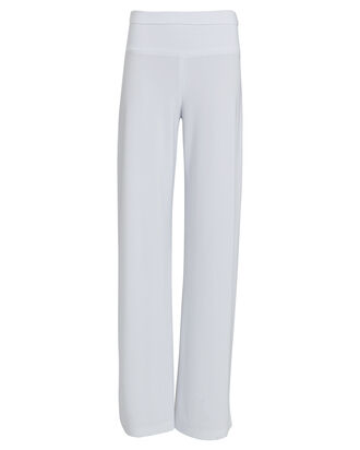 Elephant Wide-Leg Jersey Pants, WHITE, hi-res