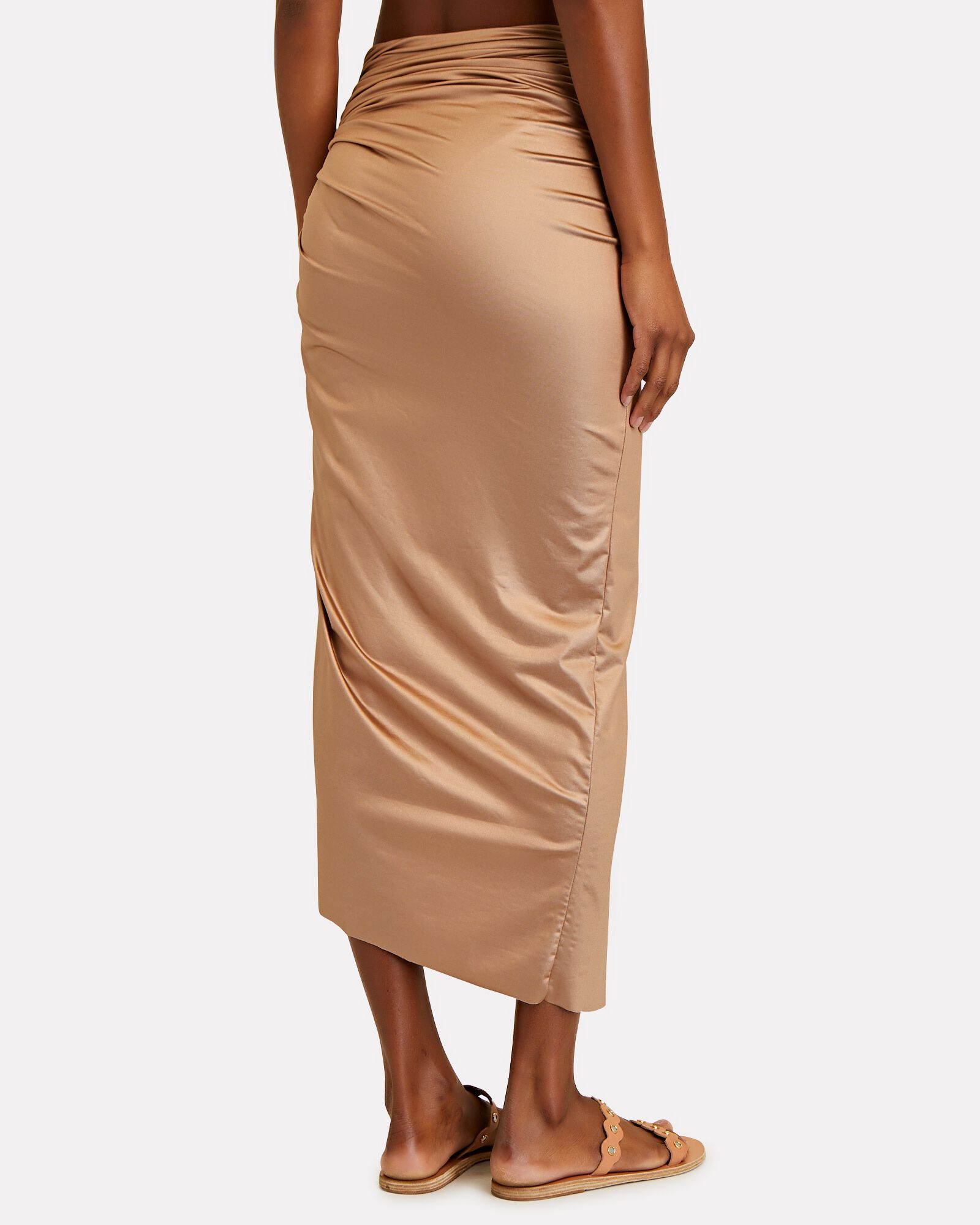Mia Ruched Pareo Skirt, BEIGE, hi-res