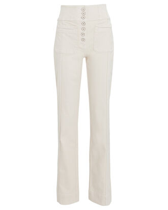 Mars High-Rise Straight-Leg Jeans, IVORY, hi-res