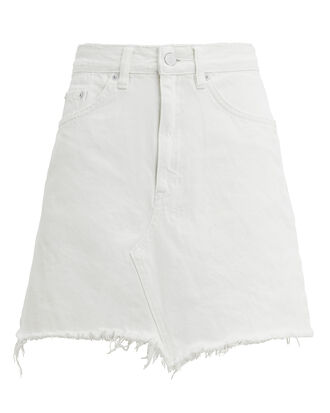 Hi Line Powder Mini Skirt, WHITE DENIM, hi-res