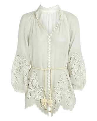 Carnaby Embroidered Blouse, IVORY, hi-res