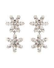 Carrie Crystal Flower Drop Earrings, CLEAR, hi-res