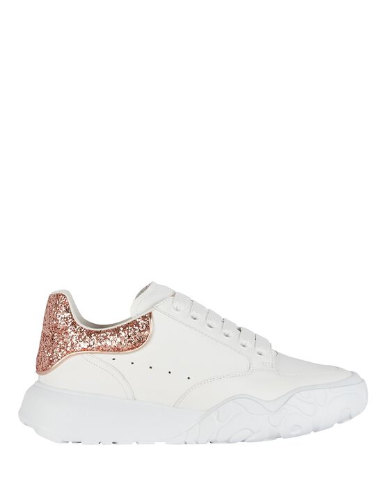 Alexander Mcqueen Leathers Oversized Leather Court Sneakers