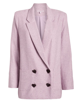 Betty Double-Breasted Blazer, PURPLE-LT, hi-res