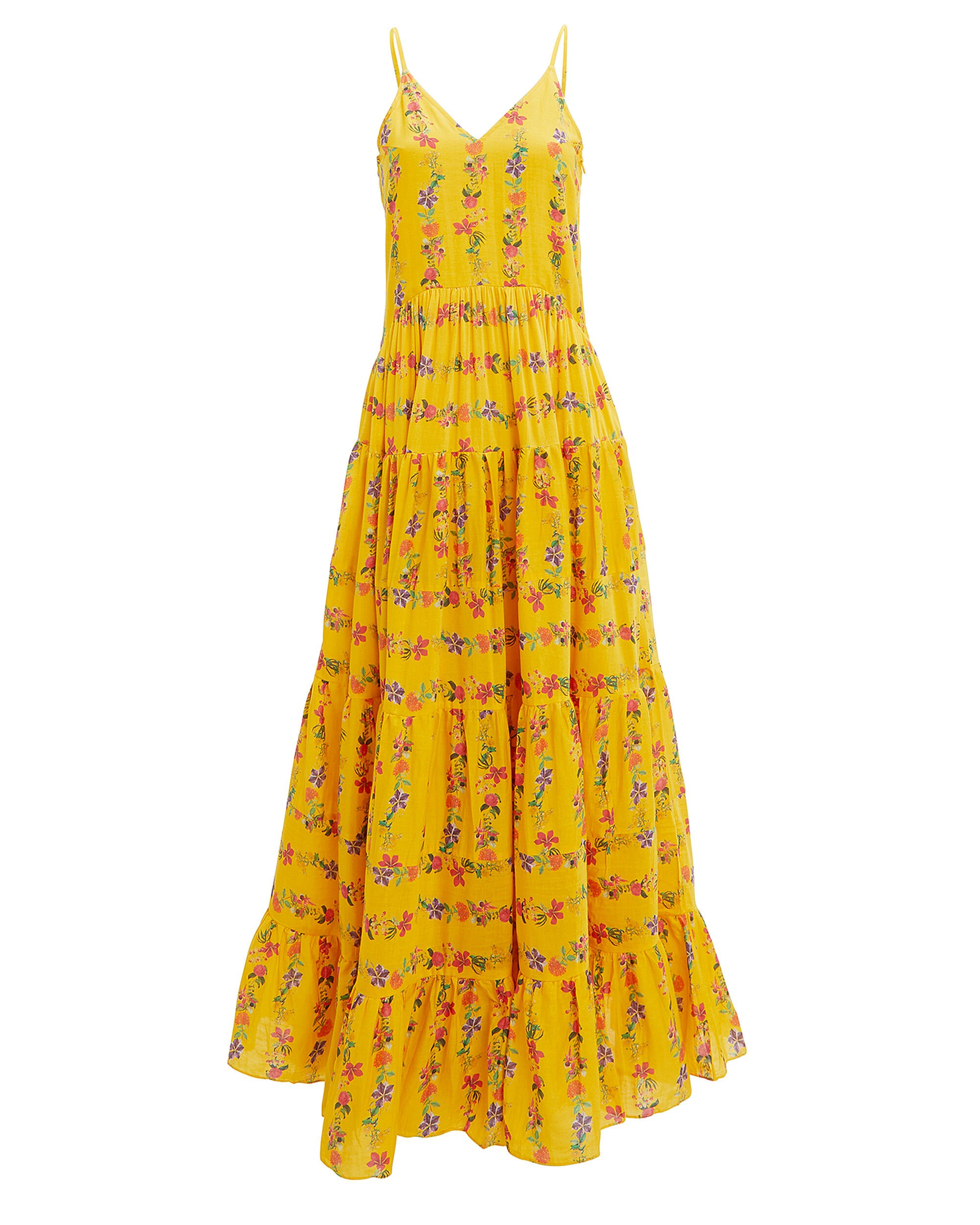 Marietta Maxi Dress, YELLOW/FLORAL, hi-res