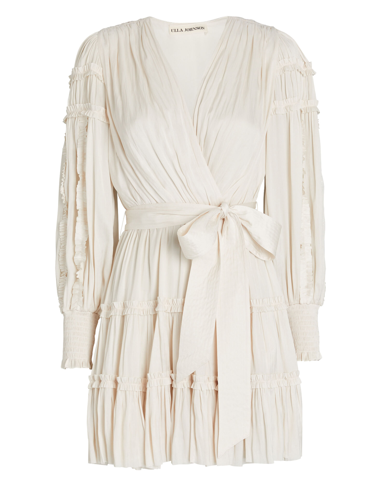 Amal Ruffled Mini Wrap Dress, , hi-res