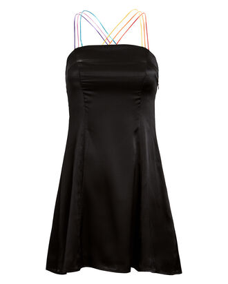 Emmie Silk Mini Dress, BLACK, hi-res