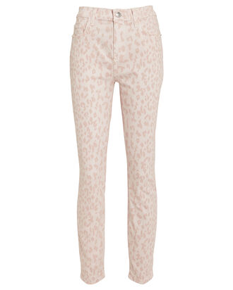 The High-Rise Stiletto Jeans, LEOPARD ROSE, hi-res