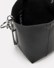 Pico Pail Leather Black Bag, BLACK, hi-res