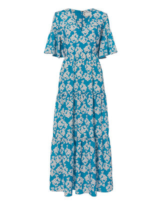 Floral Maxi Dress, PRINT, hi-res