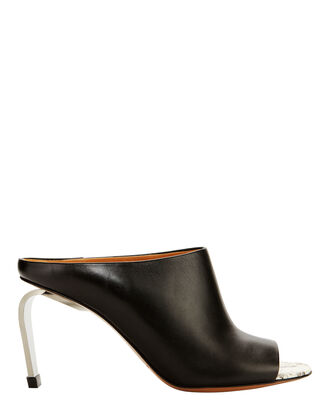 Maevaw Leather Mules, BLACK, hi-res