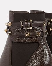 Rockstud Leather Wrap Chelsea Boots, BROWN, hi-res