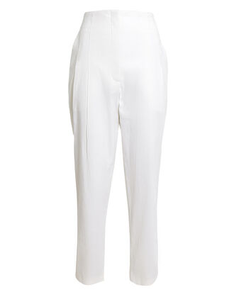 Davon High-Rise Linen-Blend Pants, WHITE, hi-res