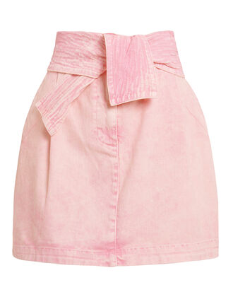 Drew Mini Skirt, PINK DENIM, hi-res