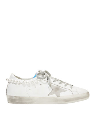 Superstar Pearl Hologram Sneakers, WHITE, hi-res